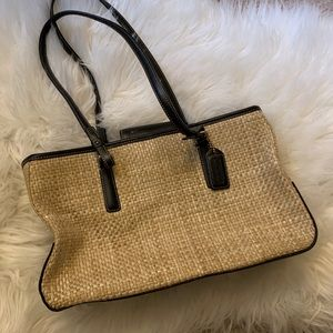 Coach Woven Straw Handbag